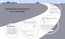 Siginificado Geometrico de la derivada