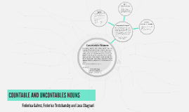 COUNTABLE AND UNCONTABLES NOUNS