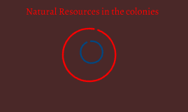Natural Resources in the colonies