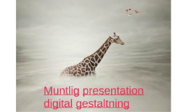 Muntlig presentation