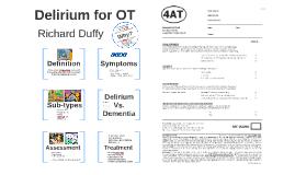 Delirium for OT