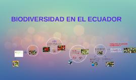 BIODIVERSIDAD EN EL ECUADOR