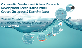 Community Development & Local Economic Development Specialization Panel: Current Challenges and Emerging Issues (Sea Level Rise)