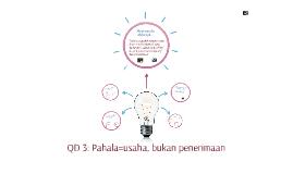 QD 3: Pahala=usaha, bukan penerimaan