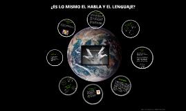 Copy of ¿ES LO MISMO EL HABLA Y EL LENGUAJE?