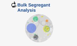 bulked segregant evaluation essay