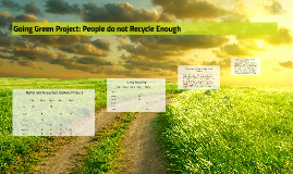 Copy of Going Green Project: People do not Recycle Enough