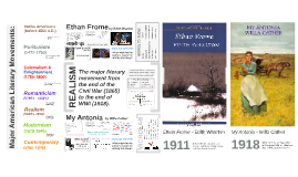 E3 Honors: My Antonia and Ethan Frome