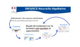 Les espaces numériques du service formation de la DRDJSCS Nouvelle-Aquitaine