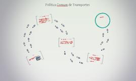 POLÍTICA COMUM DE TRANSPORTES