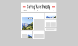 Solving Water Poverty