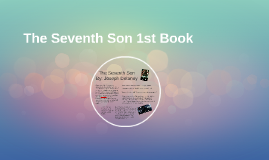 The Seventh Son 1st Book