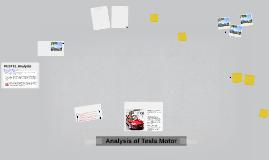 Analysis of Tesla Motor