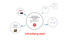 will bullying ever stop ?