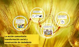 La acción comunitaria: transformación social y construcción