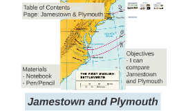 Jamestown and Plymouth