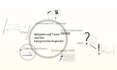 Iphigenie auf Tauris und der kategorische Imperativ