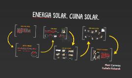 ENERGIA SOLAR. CUINA SOLAR