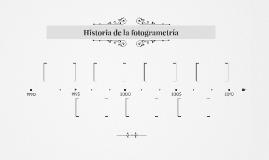 Historia de la fotogrametría