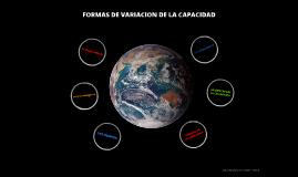 FORMAS DE VARIACION DE LA CACIDAD