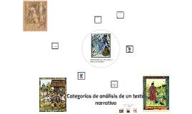 Categorías de análisis del texto narrativo