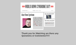 WORLD DOWNCINDROM DAY!