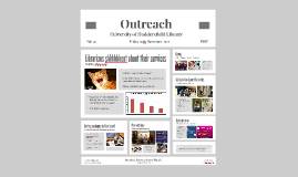 Outreach: engaging with the academic community