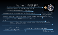 MY REPORT ON MERCURY