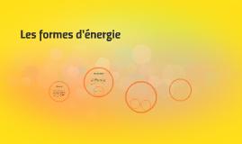 Les formes d'énergie