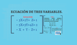 ECUACIÓN DE TRES VARIABLES.