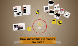 How Vulnerable are modern day cars?