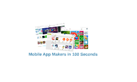 Mobile App Makers - Everything You Need To Know In 100 Secon