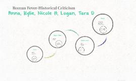 Roman Fever-Historical Criticism