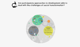 Are participatory approaches to development able to deal wit
