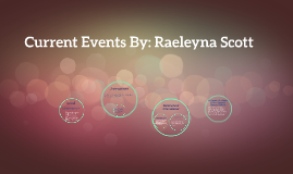 Current Events By: Raeleyna Scott