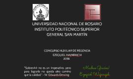 CONCURSO AUXILIAR REGENCIA