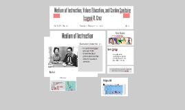 Copy of Medium of Instruction, Values Educatio, and Cordon Sanitaire