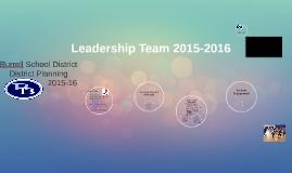 Leadership Team 2015-2016