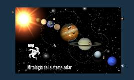 Mitología del sistema solar