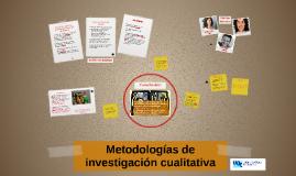 Metodologias de investigación cualitativa