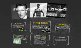 Arnold Schwarzenegger's Six Rules to Success