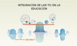 INTEGRACIÓN DE LAS TIC EN LA EDUCACIÓN