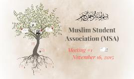 Muslim Student Association (MSA)