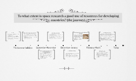 EPQ- To what extent is space research a good use of resource