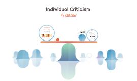 Individual Criticism
