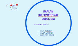KAPLAN INTERNATIONAL COLOMBIA