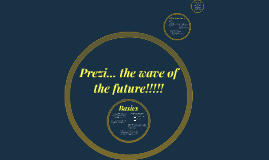 Prezi... the wave of the future!!!!!