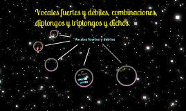 Copy of Vocales fuertes y débiles, combinaciones, diptongos, triptongos y dichos.