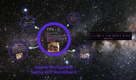 Copy of Gamma Rho Lambda Recruitment Fall 2015