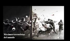 Máximos terroristas del mundo